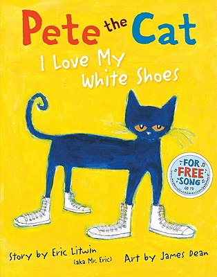 Pete the Cat was walking down the street in his brand new white shoes. Pete loved his white shoes so much, he sang this song
